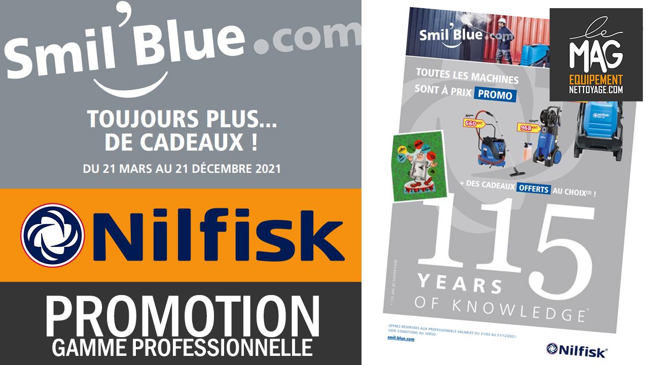 Offre promotion Nilfisk Professionnel 2021 – Smil Blue Alto – Cadeaux et Remboursement